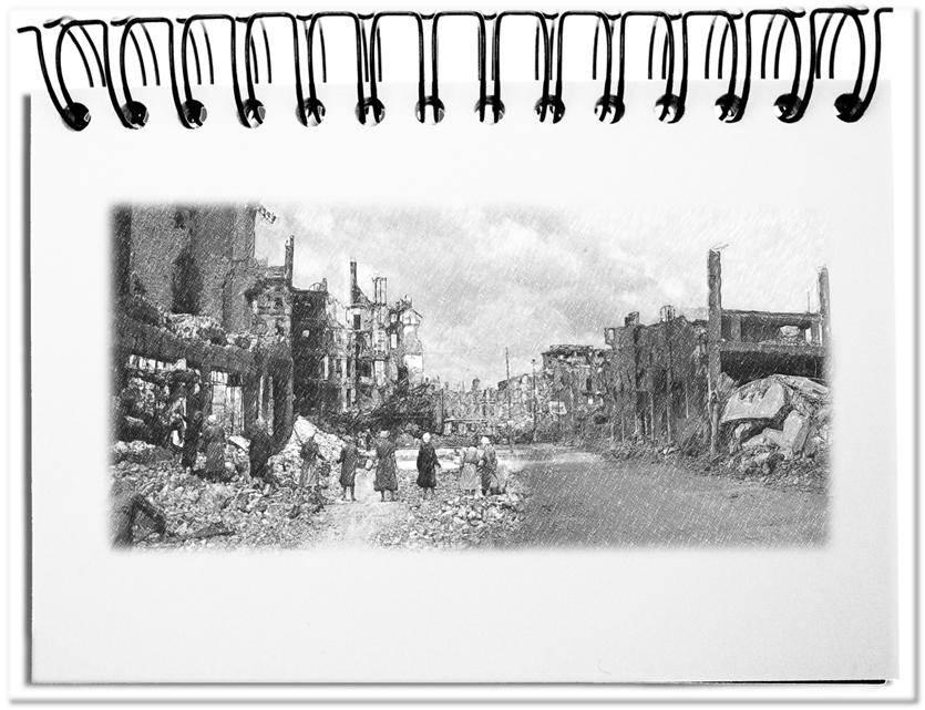 Ruinen Sandwich Berlin-Syrien